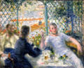 Lunch at the Restaurant Fournaise painting by Auguste Renoir at Art Institute of Chicago. Chicago, IL.