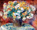 Chrysanthemums painting by Auguste Renoir at Art Institute of Chicago. Chicago, IL.