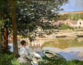 On the Bank of the Seine, Bennecourt painting by Claude Monet at Art Institute of Chicago. Chicago, IL.