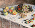 Apples & Grapes painting by Claude Monet at Art Institute of Chicago. Chicago, IL.