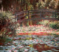 Water Lily Pond painting by Claude Monet at Art Institute of Chicago. Chicago, IL.