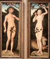 Adam & Eve paintings by Lucas Cranach the Elder at Art Institute of Chicago. Chicago, IL.
