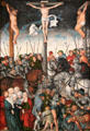 The Crucifixion paintings by Lucas Cranach the Elder at Art Institute of Chicago. Chicago, IL.