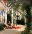 Interior of Palm House on Pfaueninsel near Potsdam painting by Carl Blechen at Art Institute of Chicago. Chicago, IL.