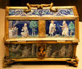 Enamel casket with scenes of David & Solomon from Limoges, France at Art Institute of Chicago. Chicago, IL.