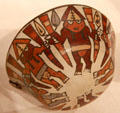 Nazca ceramic bowl depicting harvest dance from South Coast, Peru at Art Institute of Chicago. Chicago, IL.