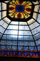 Stained glass skylight in State Capitol. Indianapolis, IN.