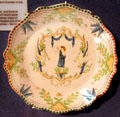 French dinner plate of tin-glazed earthenware at Clark Memorial. Vincennes, IN.