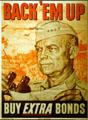 War bonds poster featuring General Eisenhower at Eisenhower Museum. Abilene, KS.
