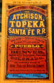 Atchison, Topeka & Santa Fe R.R. timetable at Great Plains Transportation Museum. Wichita, KS.