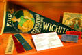 Wichita Fair & Exposition pennant with award ribbons at Sedgwick County Historical Museum. Wichita, KS.