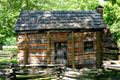 Lincoln's boyhood Knob Creek farm log cabin