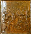 O'Reilly introduces the Law of the Indies bronze door panel in Louisiana State Capitol. Baton Rouge, LA.