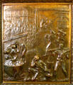 The making of sugar by De Bore bronze door panel in Louisiana State Capitol. Baton Rouge, LA.