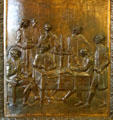 The preparation of the Code Napoleon bronze door panel in Louisiana State Capitol. Baton Rouge, LA.