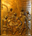 The preparation of the Civil Code of Louisiana bronze door panel in Louisiana State Capitol. Baton Rouge, LA