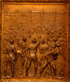 Capture of the Spanish Fort at Baton Rouge bronze door panel in Louisiana State Capitol. Baton Rouge, LA.