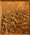 Battle of New Orleans bronze door panel in Louisiana State Capitol. Baton Rouge, LA.