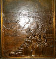 New Orleans of 1850 bronze door panel in Louisiana State Capitol. Baton Rouge, LA.