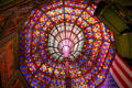 Stained glass domed atrium of Old State Capitol. Baton Rouge, LA
