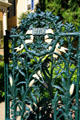 Cast iron cornstalk fence of Cornstalk Hotel. New Orleans, LA.