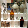 Glass bottles & ceramic jugs at Boott Cotton Mills Boarding House immigrant gallery. Lowell, MA.