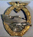 German Motor Torpedo Boat badge from WWII at Battleship Cove P.T. Boat Museum. Fall River, MA.