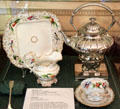 Tiffany hot water pot & Vieu Paris porcelain at Rotch-Jones-Duff House. New Bedford, MA.
