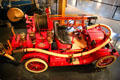 Ford-Howe Pumper fire truck from Detroit, MI built on a Model T chassis at Heritage Plantation Auto Museum. Sandwich, MA.