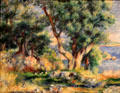 Landscape on Coast near Menton painting by Pierre-Auguste Renoir at Museum of Fine Arts. Boston, MA.