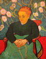 Lullaby: Mme Augustine Roulin Rocking a Cradle painting by Vincent van Gogh at Museum of Fine Arts. Boston, MA.