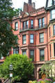 Typical Back Bay row house on Commonwealth Ave. between Dartmouth & Exeter St. Boston, MA.