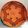 Navajo wedding basket in lily pattern at Peabody Museum. Cambridge, MA.