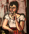 Portrait of Euretta Rathbone by Max Beckmann at Museum of Fine Arts. Boston, MA.