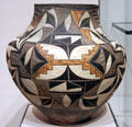 Acoma Pueblo earthenware water jar from NM at Museum of Fine Arts. Boston, MA.