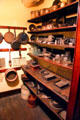 Pantry with numerous kitchen devices at Gibson House Museum. Boston, MA.