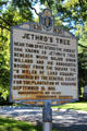 Plaque marking Jethro's Tree where Major Simon Willard bought Concord from the Indians on Monument Sq. Concord, MA.