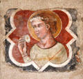 Veneto-Byzantine fresco of saint at Hammond Castle Museum. Gloucester, MA.