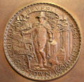 Beverly city seal at John Cabot House. Beverly, MA.