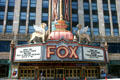 Fox Theater marquee & entrance. Detroit, MI.