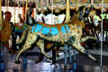 Saddled dog on Herschell-Spillman Carousel at Greenfield Village. Dearborn, MI.