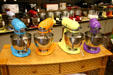 Multi-colored kitchen machines in shop. Holland, MI.