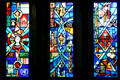Stained glass windows in Alumni Memorial Chapel at Michigan State University. East Lansing, MI.