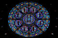 Rose window of Saints martyred in the conversion of American Indians at Cathedral of Saint Paul. St. Paul, MN.