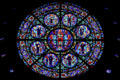 Rose window of Western Hemisphere Saints at Cathedral of Saint Paul. St. Paul, MN.