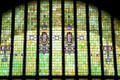 Stained glass details of National Farmer's Bank. Owatonna, MN.
