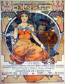 St Louis World's Fair Art Nouveau poster by Alphonse Mucha issued by French government at Missouri History Museum. St Louis, MO.