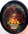 Framed sculpted fruit array at Chatillon-DeMenil Mansion. St. Louis, MO.