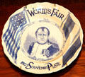 Napoleon souvenir plate with flags from 1904 St. Louis World's Fair at Chatillon-DeMenil Mansion. St. Louis, MO.