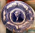 Thomas Jefferson souvenir plate with expo buildings from 1904 St. Louis World's Fair at Chatillon-DeMenil Mansion. St. Louis, MO.